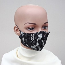 Маска за лице от естествена коприна и дантела 13