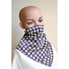 Маска-шал от естествена коприна 15