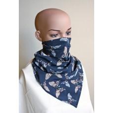 Маска-шал от естествена коприна 16
