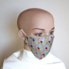 Двулицева маска за лице от естествена коприна 19