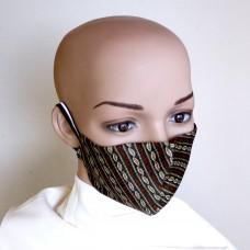 Двулицева маска за лице от естествена коприна 21