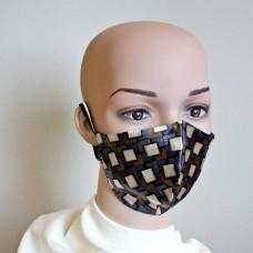 Маска за лице от естествена коприна 23