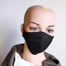 Черна маска за лице от естествена коприна  26