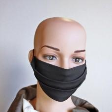 Черна маска за лице от естествена коприна  27